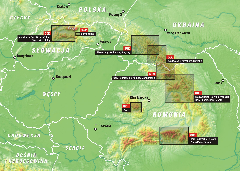 Mapa Łukiem Karpat